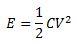 Capacitor Energy Equation