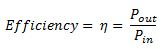 Efficiency Equation