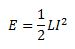 Inductor Energy Equation